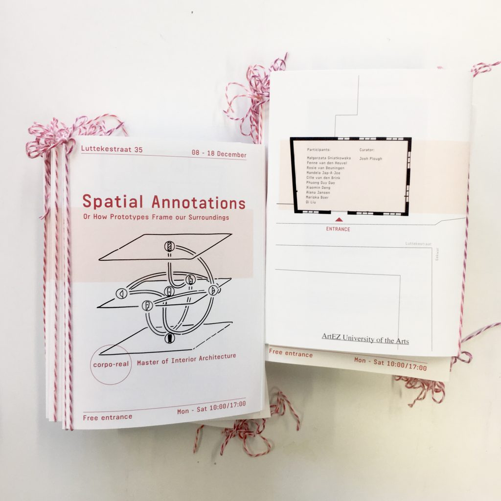 exhibition spatial annotations tentoonstelling
